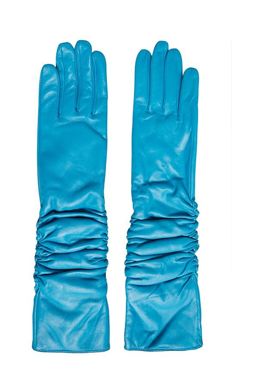 gestuz ruby long leather gloves methyl blue borkesztyu
