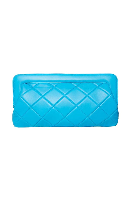 Velda Quilted Leather Clutch