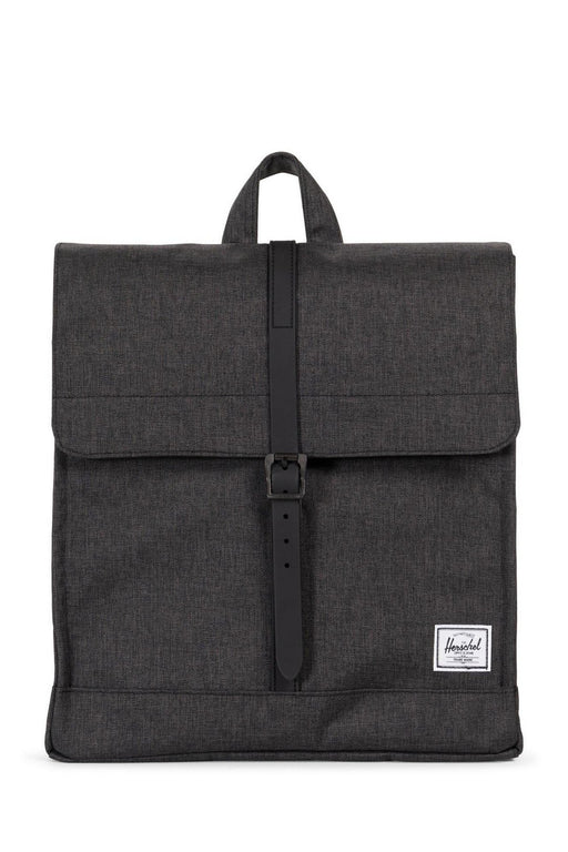 herschel city backpack midvolume black crosshatchblack hatizsak