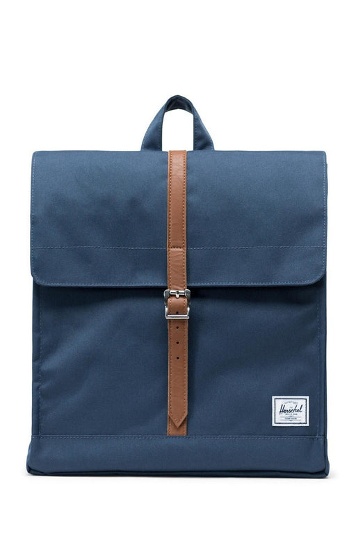 herschel city backpack midvolume navytan synthetic leather hatizsak