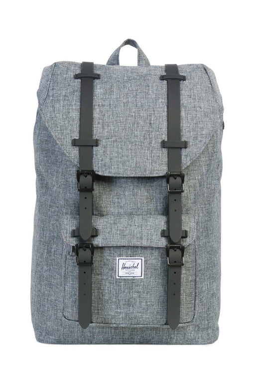 herschel little america backpack midvolume raven crosshatchblack hatizsak