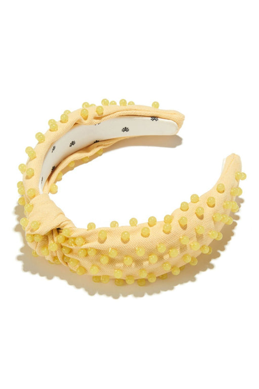 lele sadoughi woven beaded headband lemon hajpant