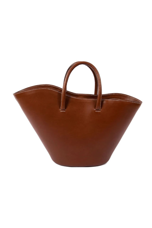little liffner open tulip medium totebag chestnut nagy meretu bortaska