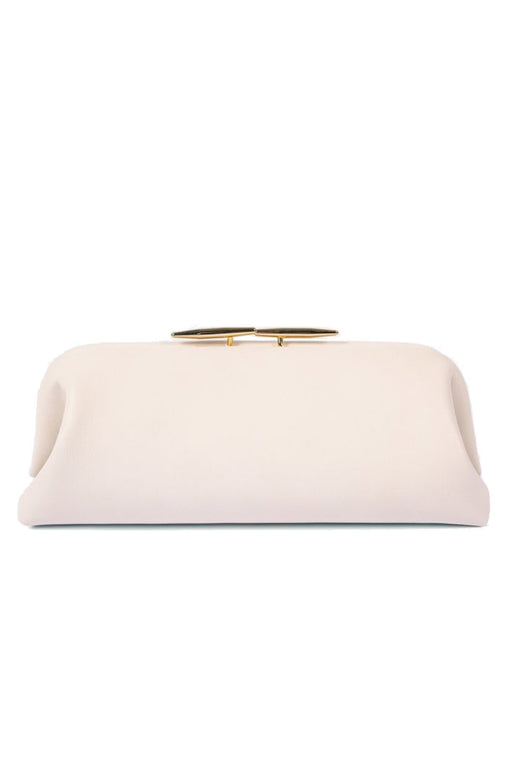 little liffner oyster leather clutch marble gold hardware bor alkalmi taska