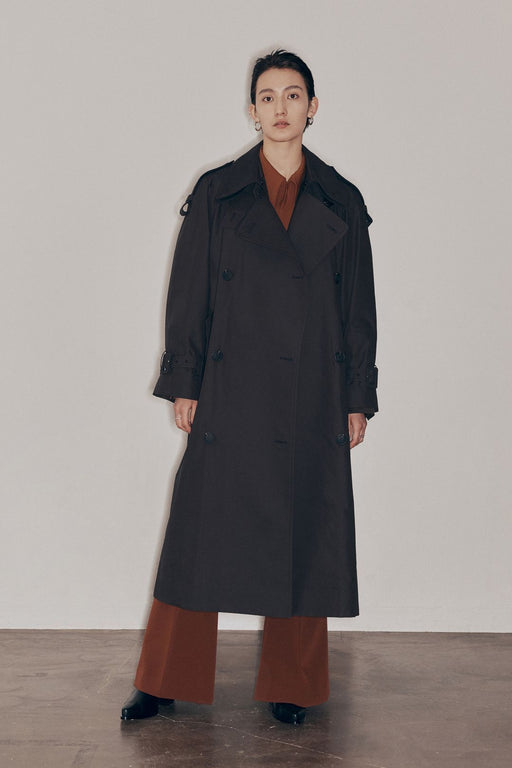 low classic classic trench coat dark brown ballonkabat