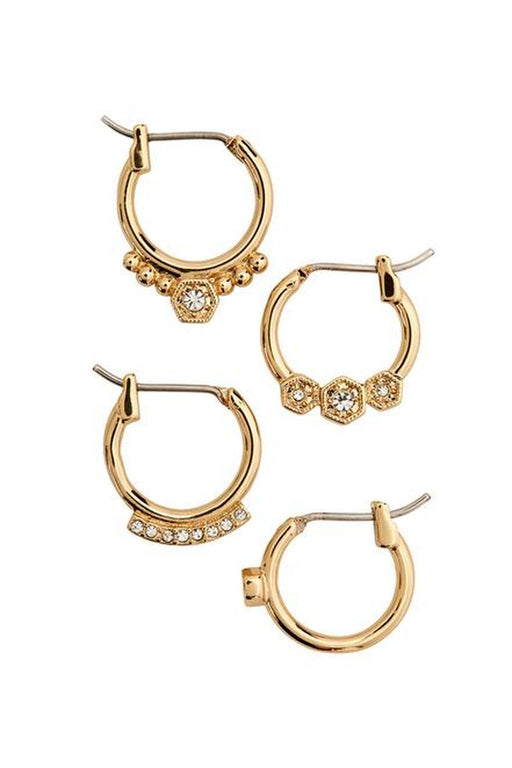luv aj full bloom hoop earring set gold karikafulbevalo