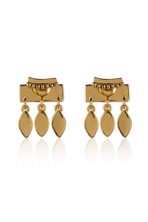 luv aj marquise dangle stud earrings gold fulbevalo
