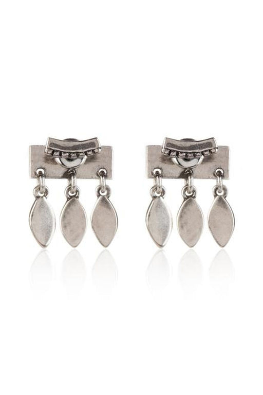 luv aj marquise dangle stud earrings silver fulbevalo