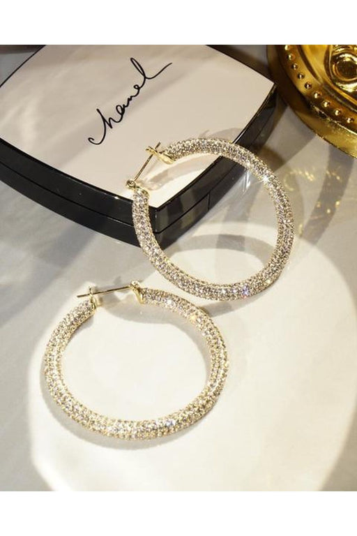 Pave Amalfi Hoop Earrings