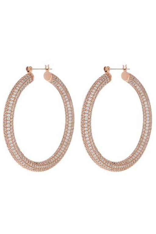 luv aj pave amalfi hoop earrings rose gold karikafulbevalo