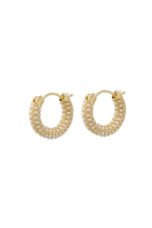 Pave Amalfi Huggie Earrings