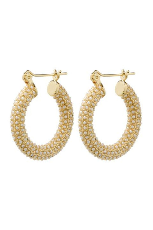 Pave Baby Amalfi Hoop Earrings