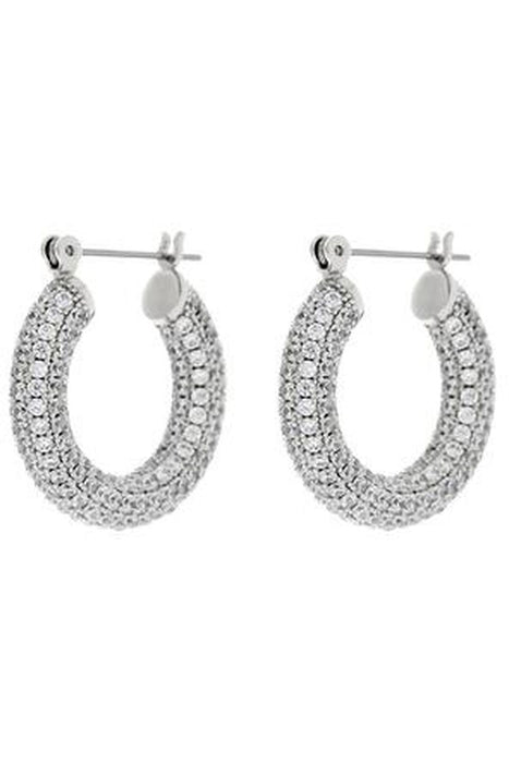 luv aj pave baby amalfi hoop earrings silver karikafulbevalo