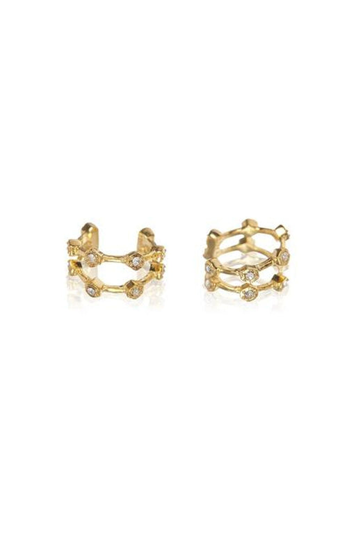 luv aj pave hex ear cuff gold fulgyuru