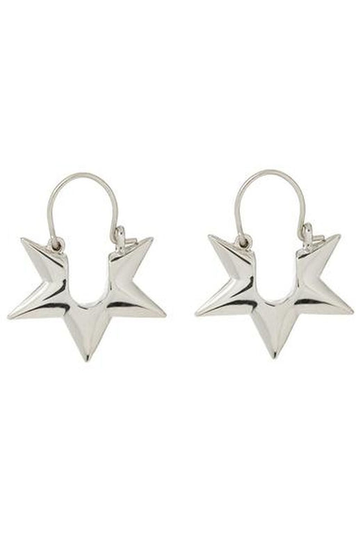 luv aj starlight huggie earrings silver karikafulbevalo