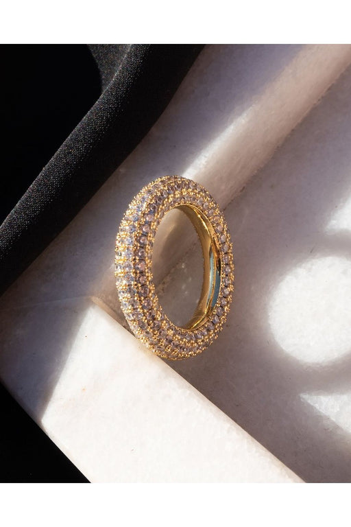 luv aj the pave baby amalfi ring gold gyuru