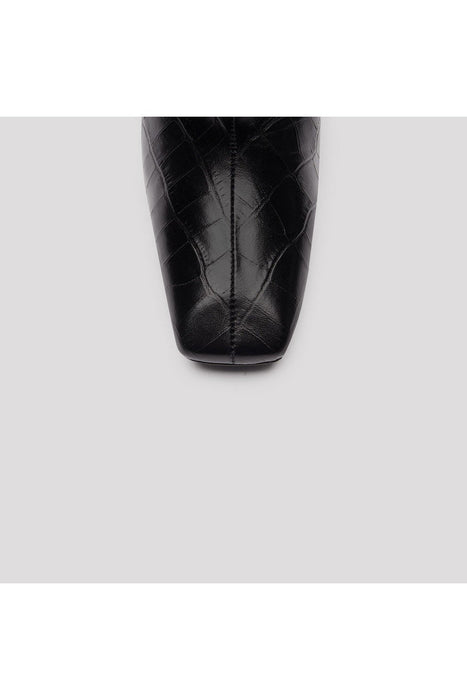 miista marcelle leather boots black croc borcsizma
