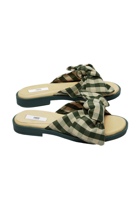 Valerie Camping Seaweed Check Sandals