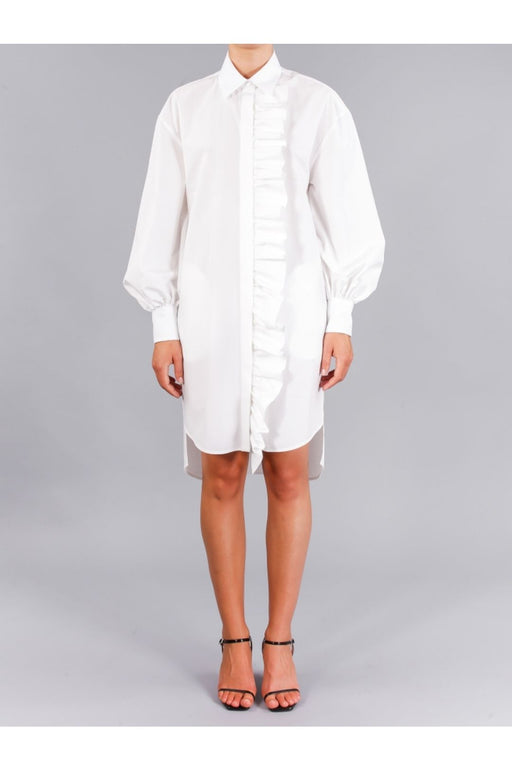 msgm cotton poplin dress off white kockas ing
