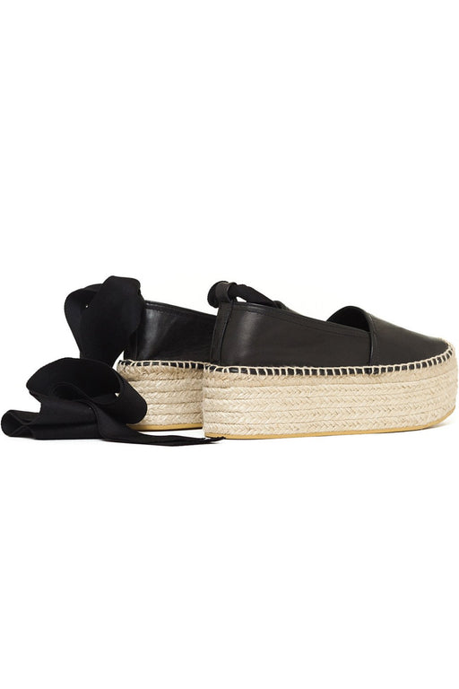 obistudio electra leather espadrilles black bor szandal