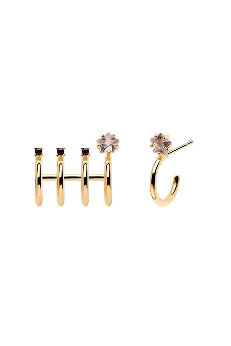 p d paola andromeda earrings gold fulbevalo