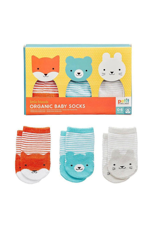 Organic Cotton Baby Sock Set Of 3 (0-6 Months)