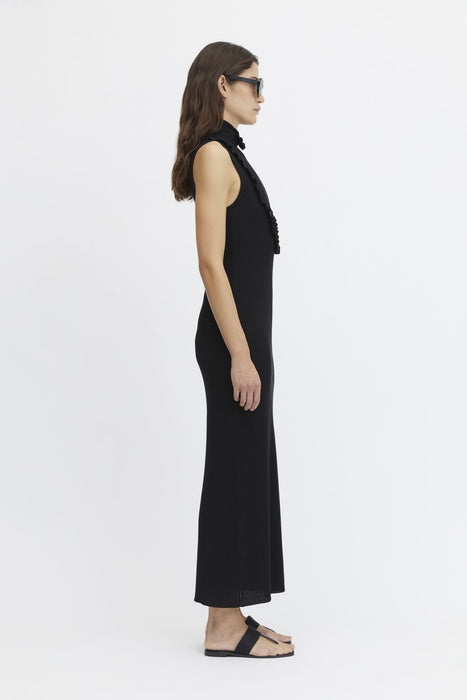 rodebjer aile maxi dress black ruha