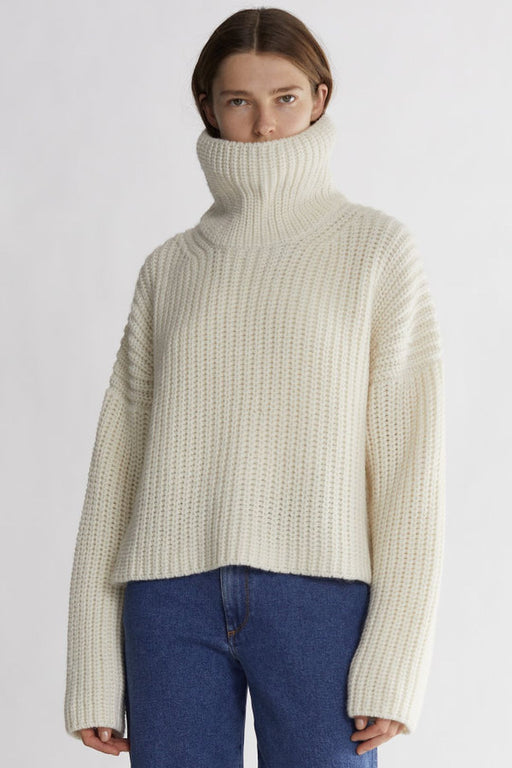 rodebjer blanca wool sweater off white gyapjupulover