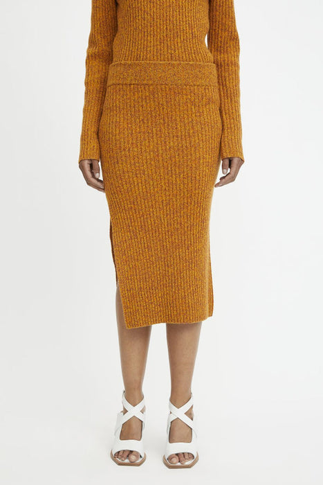 rodebjer lenata merino wool skirt sharp orange gyapjuszoknya