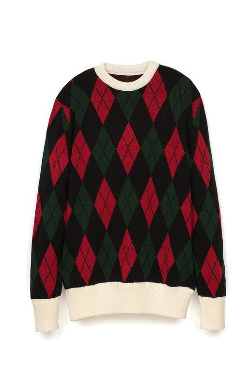 rombo-sweater-balckredgreen