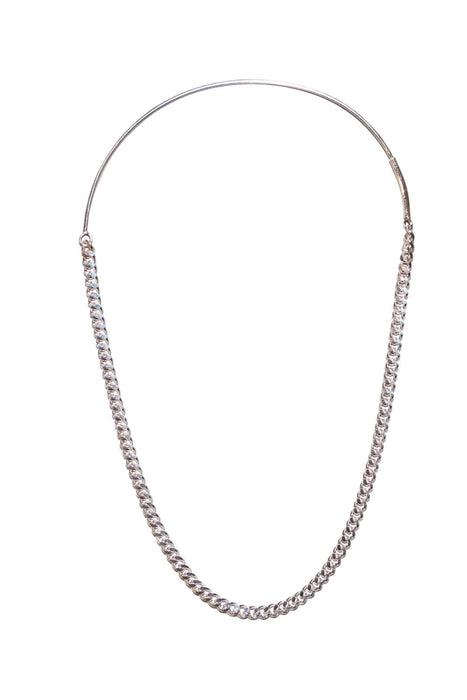 saskia diez grand chained hoop no2 single earring silver fulbevalo