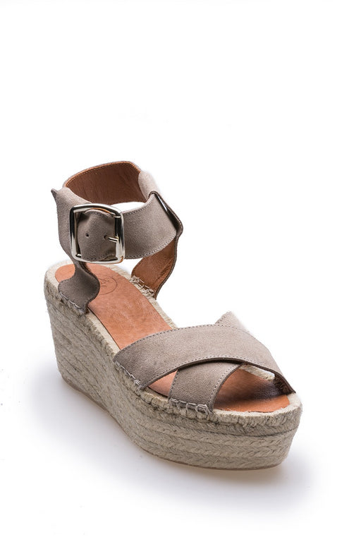 Alohas Kailua Wedge Sandals Stone