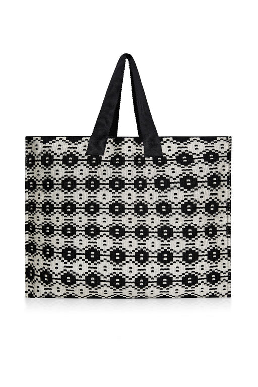 sophie anderson mercato medium handloomed market totebag cream black kezzel horgolt taska