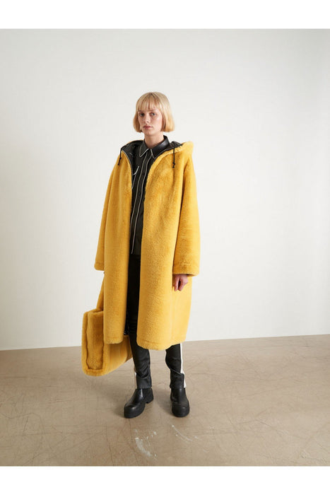 stand studio claudia coat blackyellow kabat