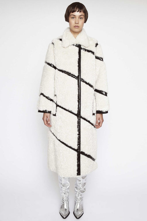 stand studio cleo coat off whiteblack kabat