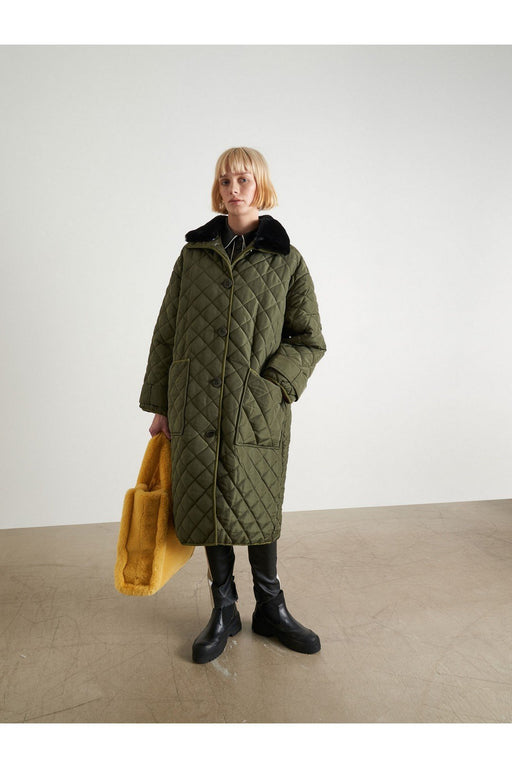 stand studio marika coat army green steppelt kabat