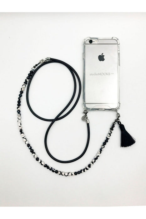 Black & White Crossbody Iphone Case