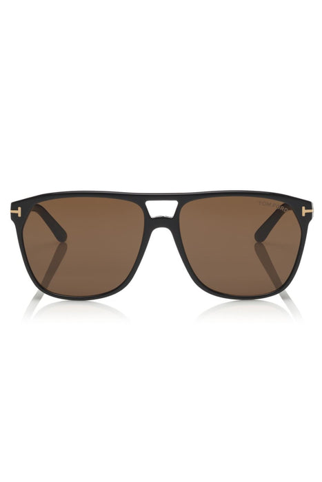 tom ford shelton sunglasses shiny blackbrown napszemuveg
