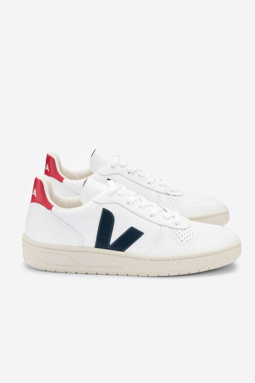 veja v10 leather sneakers extra whitenauticopekin cipo