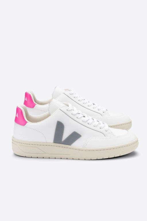 veja v12 leather sneakers extra whiteoxford greysari cipo