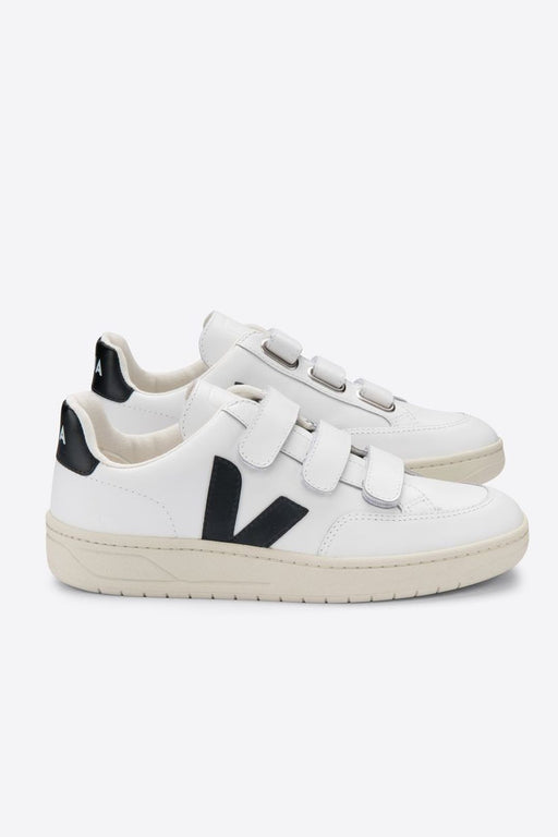 veja vlock leather sneakers extra whiteblack cipo