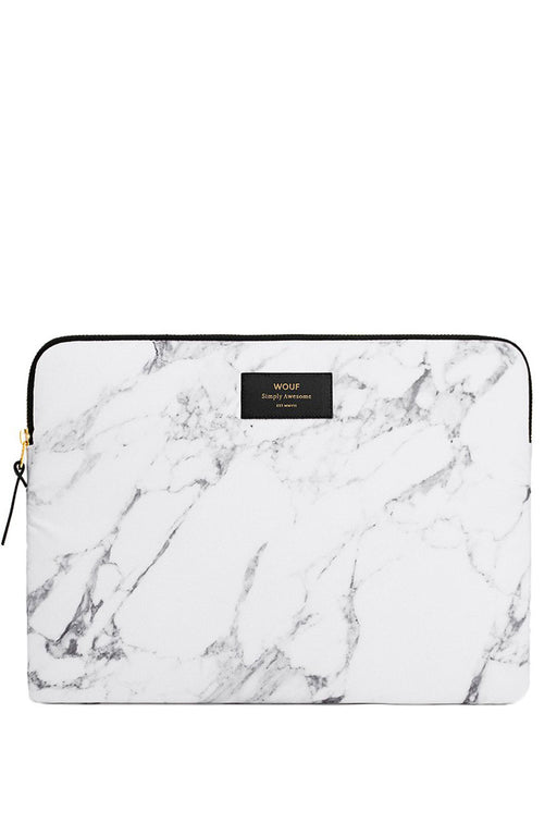 White Marble Laptop Case