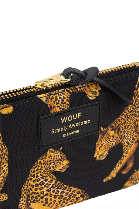 Black Leopard Small Pouch