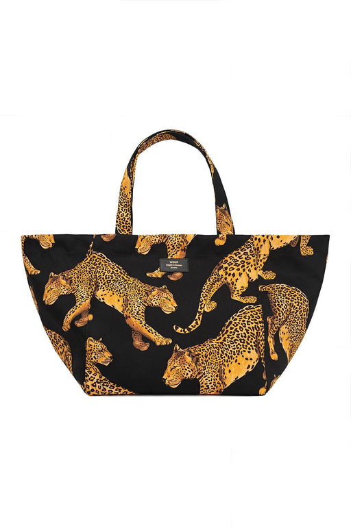 Black Leopard Xl Totebag