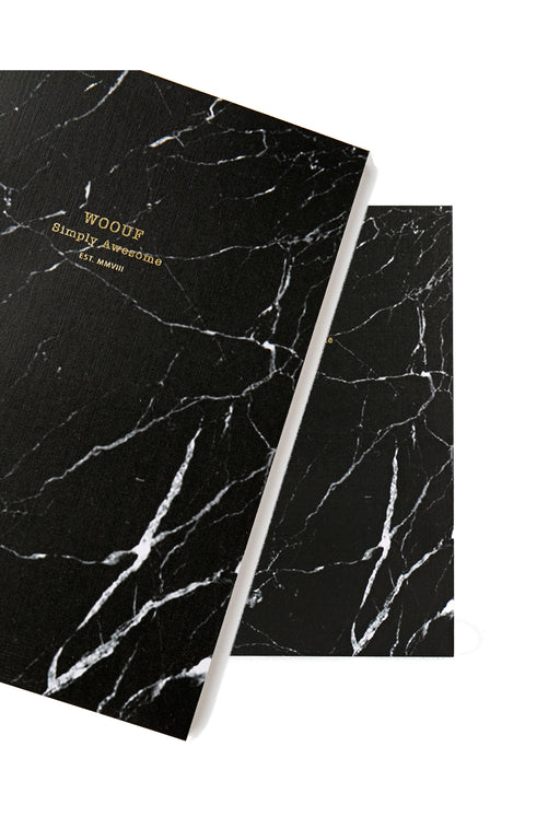 Black Marble A5 Paper Notebook
