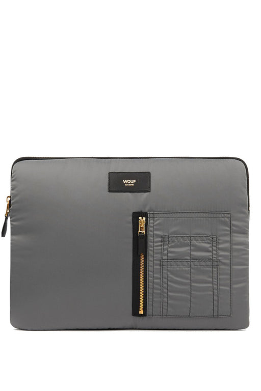 wouf grey bomber laptop case laptoptok
