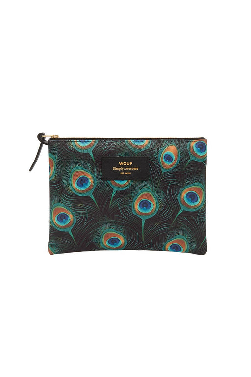 wouf peacock large pouch cipzaros taska