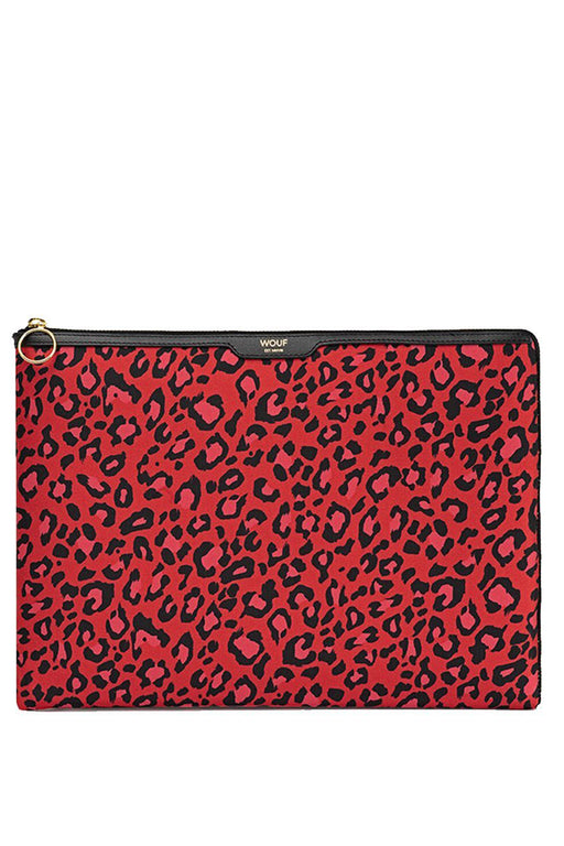 "Red Leopard 13"" Laptop Case"