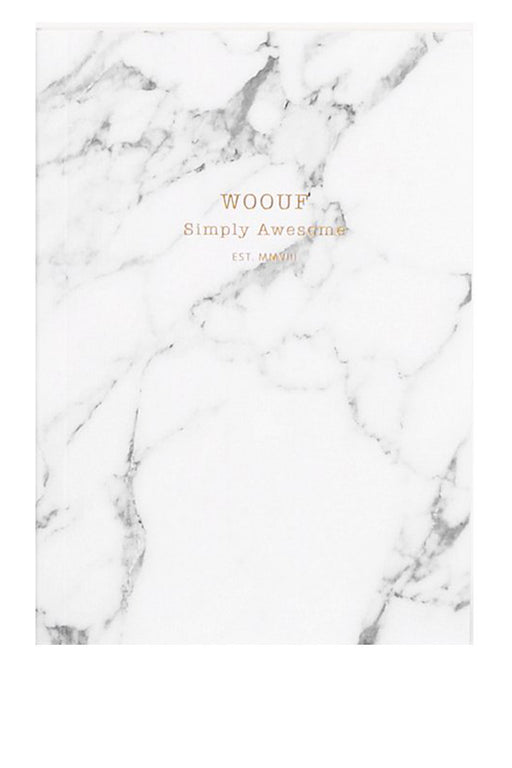 wouf white marble a6 paper notebook jegyzetfuzet