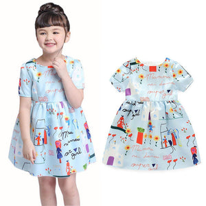 2016 Girls Dress Summer Toddler Clothes Flower Children Clothing for Girls Kids Party Wedding Fashion